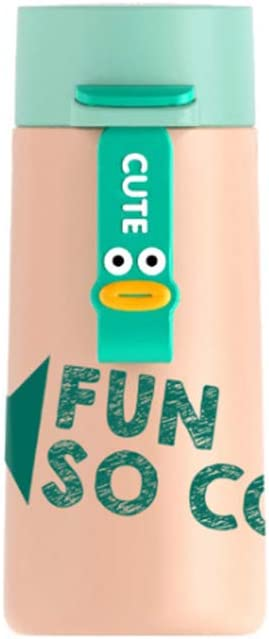 GLOOMALL 6oz Insulated Small Thermos Flask, Kids Cartoon Vacuum Insulated Water Bottle, Leakproof Double Wall Sports Flask (Green)