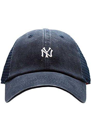 American Needle New York Yankees Raglan Bone Micro Hat, Navy (Yankees American Needle)