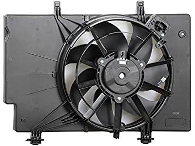 BOXI Engine Cooling Fan Assembly For Ford Fiesta 2011-2013 / Ford Fiesta 2014-2017 L4 1.6L with Air Conditioning (excluding Turbo Models) BE8Z8C607A