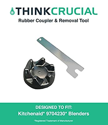 Think Crucial Replacements for KitchenAid Blender Rubber Coupler & Removal Tool for Models KSB3, KSB3 & KSB5, Compatible With Part # 9704230