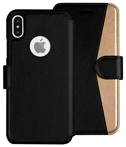 LUPA iPhone Xs Max Wallet case, Durable and Slim, Lightweight with Classic Design & Ultra-Strong Magnetic Closure, Faux Leather, Golden Dusk, for Apple iPhone Xs Max