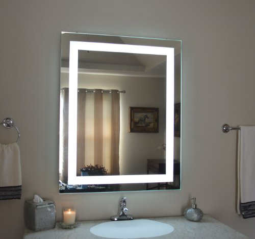 Wall Mounted Lighted Vanity Mirror MAM83236 Commercial Grade 32'' wide x 36'' tall by Mirrors and Marble
