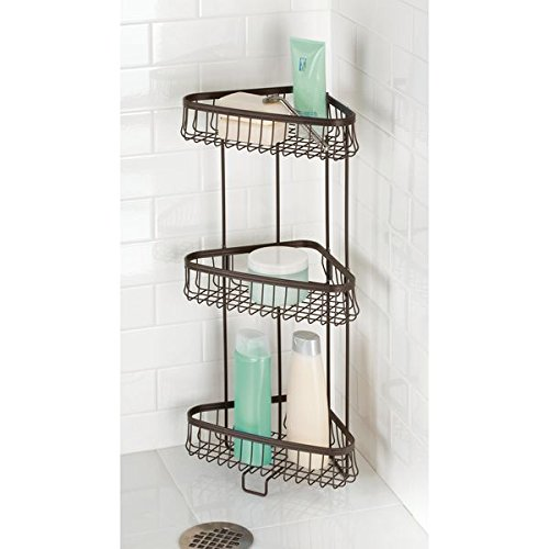 Mdesign Three Tier Freestanding Wire Bathroom Storage