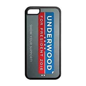 LJF phone case the Case Shop- Customizable House of CARDS iPhone 5C TPU Rubber Hard Back Case Cover Skin , i5cxq-454
