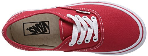 Vans Kids Authentieke Canvas Schoenen Rood / True White