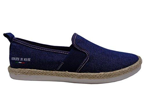 mare di Blu Sneaker Armata Jeans Uomo On Canvas Tela Slip p7xCqw1Z