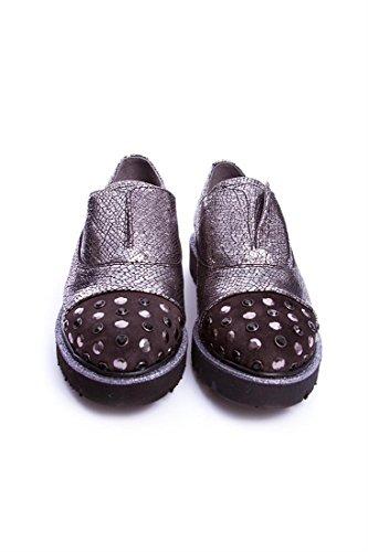 Kanna pour de argent femme Chaussures à ville métallique lacets rCrF7wqX