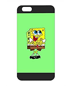 Cute Funda Case For IPhone 6 Plus - Spongebob Cartoon Personalized Style Colorful Paint High Impact Extra Slim Hard Shell Funda Case For IPhone 6 6s Plus [5.5 inch]