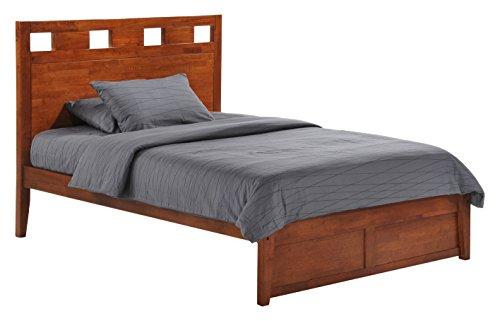 Night & Day Furniture Tamarind K Series Platform Bed in Cherry Finish, Queen ()