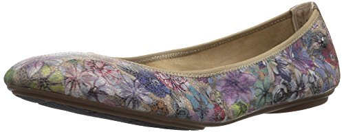 (Hush Puppies Women's Chaste Ballet Flat, Hygee Floral Suede, 7.5 Extra Wide)