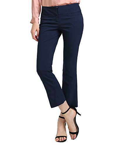 ATOUR Womens Bootcut Dress Pants Stretch Comfy Work Trousers Office Wear Casual Ladies Pant Black Size 0