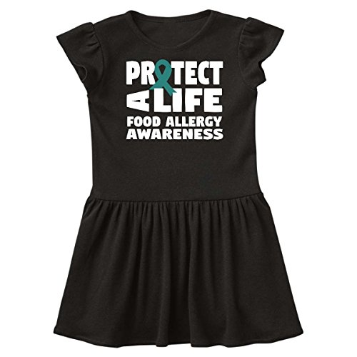 Inktastic Protect A Life Food Allergy Infant Dress 24 Months Black 29Dc1