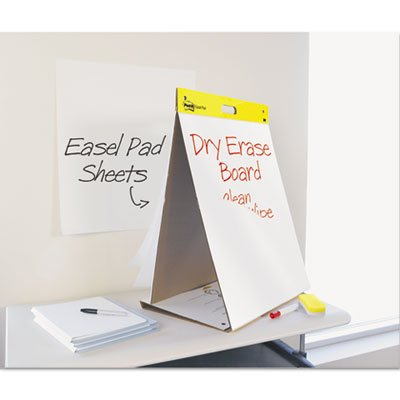 Dry Erase Tabletop Easel Unruled Pad, 20 x 23, White, 20 Sheets, Sold as 1 Pad by Post-it