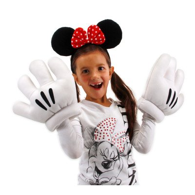 Mickey Mouse Ears With Gloves (elope Disney's Minnie Mouse Ears & Gloves Set)
