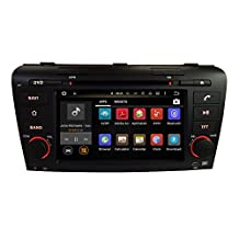 XTTEK 7 inch HD 1024x600 Multi-touch Screen in dash Car GPS Navigation System for Mazda 3 2004 2005 2006 2007 2008 2009 Quad Core Android DVD Player+Bluetooth+WIFI+SWC+Backup Camera+North America Map