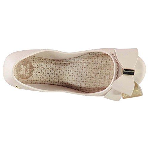 Bow Glitter 5 Shoes Start Textured Womens Romance 38 Metallic Jelly Zaxy UK Nude tAaxYfwq