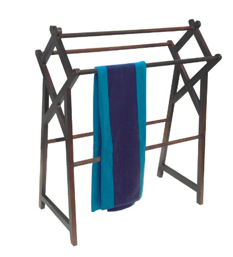 Repro Stand (D-ART COLLECTION Mahogany Cross Towel Rack)