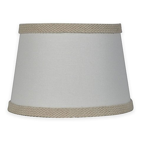 Mix & Match Small 10-Inch Burlap Trim Lamp Shade in - Classic Ivory Shade
