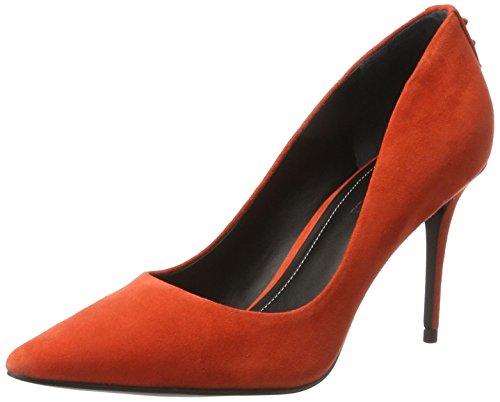 Escarpins Noir Suede Bright Kendall Kkbritney 10582 Fermé and Orasu Orange Coral Bout Femme Kylie C7t6Bwq