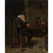 'Old Man in the Pub by Adriaen Brouwer' oil painting, 10x12 inch / 25x31 cm ,printed on Perfect effect Canvas ,this Cheap but High quality Art Decorative Art Decorative Canvas Prints is perfectly suitalbe for Kids Room decoration and Home gallery art and Gifts