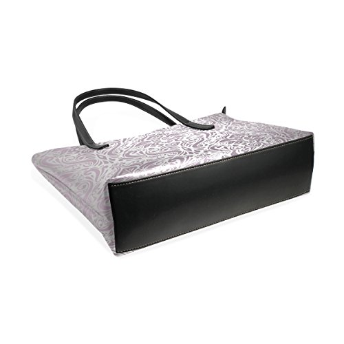 Top Women's TIZORAX Handle Pink Handbag Silver PU Fashion Bags Totes Leather Vintage Purses Shoulder qr8twr