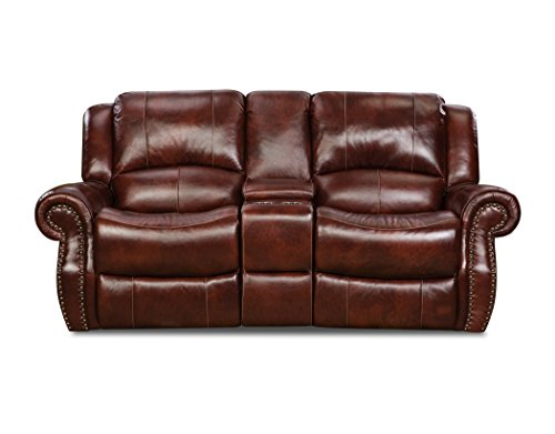 Cambridge 98528GRL-OB Telluride Leather Reclining Loveseat, Brown ()