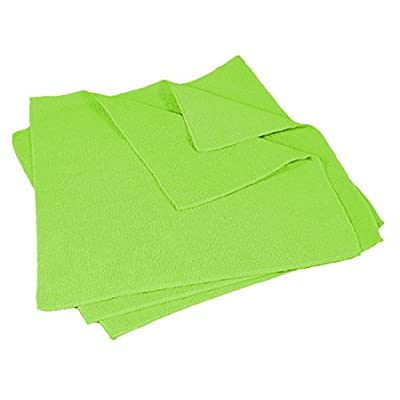 "Buffalo Industries (64007) 16"" x 16\"" Microfiber Cleaning Cloth, Green (Pack of 50): Automotive"