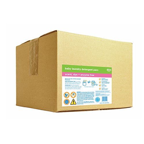 Dropps HE Baby Laundry Detergent Pacs, Scent Dye and Enzyme Free, Bulk Box, 804 Count by dropps