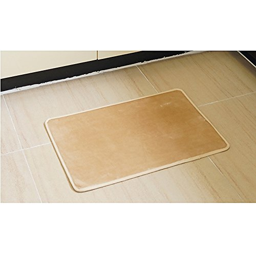 Yoler Thin Kitchen Mat Non Slip Microfiber Flannel Area