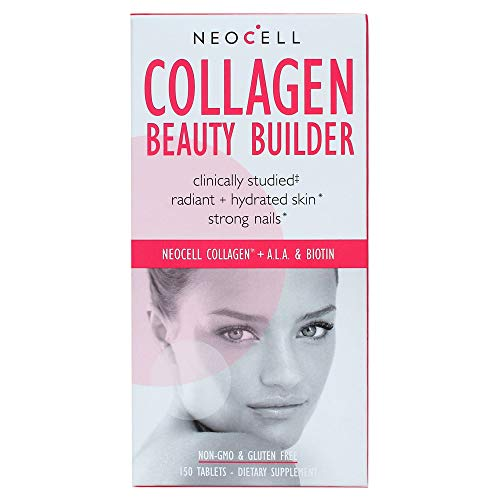 (NeoCell - Collagen Beauty Builder - BioActive Collagen Type 1&3 + Alpha Lipoic Acid and Biotin Promotes Radiant and Hydrated Skin, Strong Nails; Non-GMO and Gluten-Free; 150 Tablets )