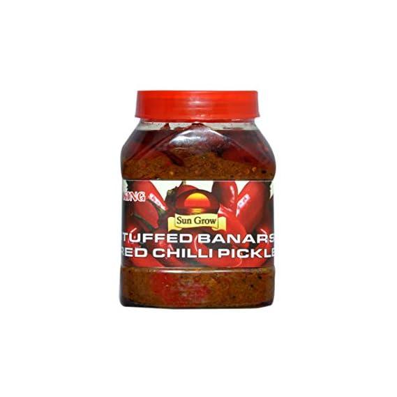 Sun Grow Organic Homemade Stuffed Banarasi Red Chilli Pickle Achaar ( Taste of Banaras )