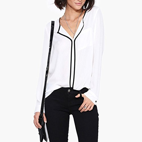 Femme Chemise - Elegant European Style Spring Summer Women Tops Long-Sleeved White Shirts Women Loose blouses chemise femme