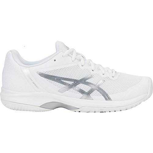 ASICS Women's Gel-Court Speed Tennis Shoes, White/Silver, Size 10.5