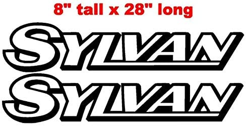 Marine Grade and Your Choice of Color. CELYCASY Pair of 8x28 Sylvan Boat Hull Vinyl Decals