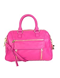 Cynthia Rowley Reese Lambskin Leather Satchel, Rose