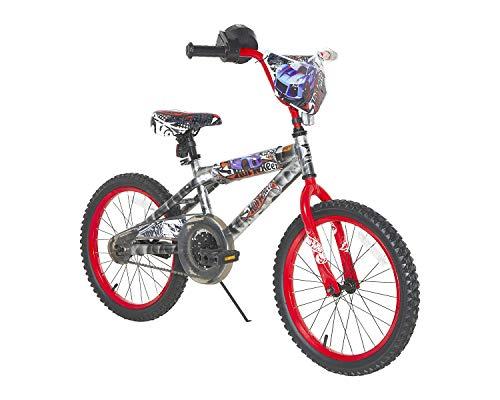 Hot Wheels Boys Dynacraft Bike with Rev' Grip, Silver/Red, ()