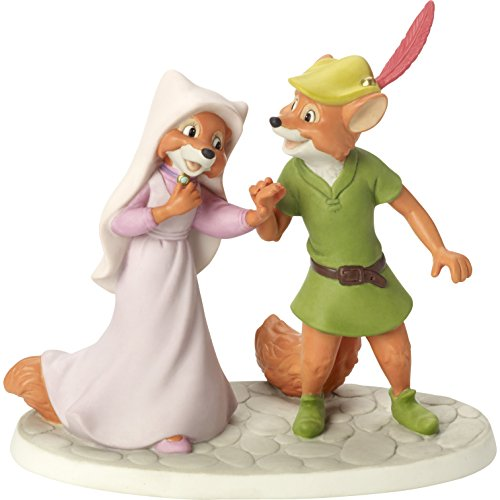 Love Porcelain Figurine - Precious Moments 164701 I Love You More Than Life Itself Bisque Porcelain Figurine Disney Showcase Collection, Multicolor