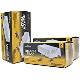 Kingman Roach Glue Trap Ready and Easy to Use Safe Non-Toxic Sticky Cockroach Motel for Pest Control (6 Pack/ 12 Traps)
