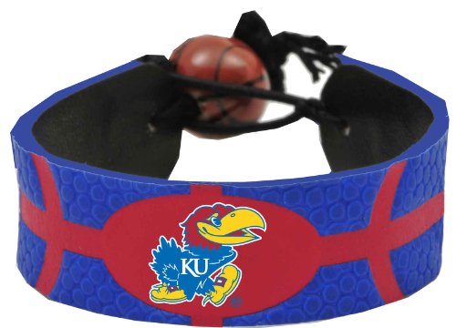 Kansas Jayhawks Team Color Basketball Bracelet -