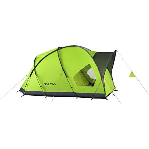 Salewa Alpine Hut IV Tent: 4-Person 3-Season Cactus/Grey, One - Cactus Hut