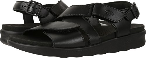 SAS Womens Huggy Open Toe Casual Strappy Sandals Black 5.5 M US
