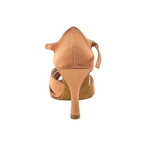 """Gold Taube Schuhe 50 Shades Of Tan Tanzschuhe, Komfort Abendkleid Hochzeit Pumps: Ballroom Schuhe für Latein, Tango, Salsa, Swing, Kunst von Party Party (2,5 """"& 3"""" Heels) 7037 - Tan Satin"""