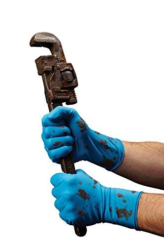 Medline VEN6025 Venom Steel Latex Gloves, Splash Protection, Blue (Pack of 480) by Medline (Image #3)