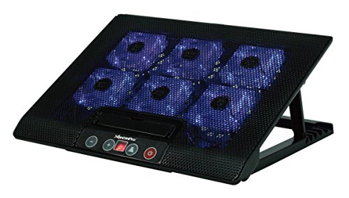 XtremPro 11150 Laptop Cooler Pad, 13.38 x 11.33 x 1.1 inch / 340 x 288 x 28 mm, Black