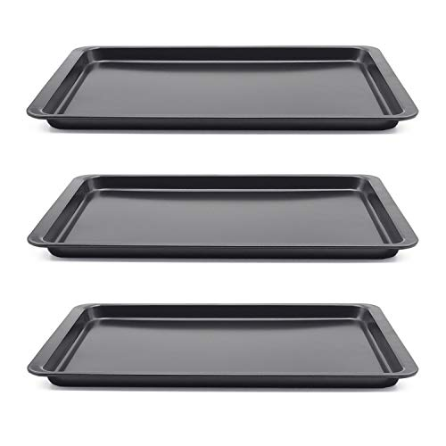 - Carbon Steel Baking Sheet, Set of 3 Non-Stick Cookie Sheet Baking Pans, 10