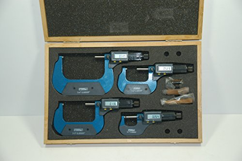 Fowler 54-850-104 Electronic Micrometer Set 0-4