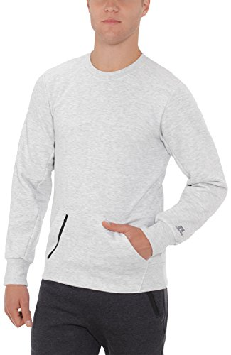 Russell Athletic Men's Cotton Rich Fleece Sweatshirt, Ash, XXL