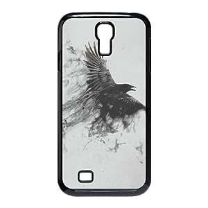 Samsung Galaxy S4 9500 Cell Phone Case Black af09 black bird smoke art illust K2K4MO