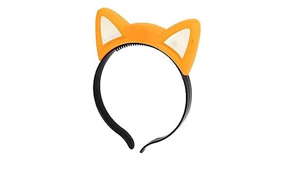 Amazon.com: eDealMax Cosplay Flash LED oreja de gato ligero Pelo de la Venda Hairband Venda anaranjada: Health & Personal Care