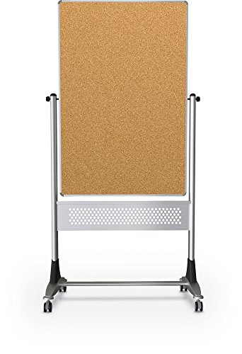 MooreCo 669RU-HC PLATINUM REVERSIBLE BOARD DURA-RITE MARKERBOARD/NATURAL CORK - Natural Cork Reversible Board